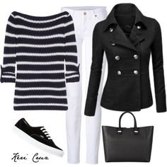 A fashion look from December 2013 featuring Tory Burch sweaters, 7 For All Mankind jeans and Vans sneakers. Browse and shop related looks.