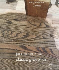 Minwax Stain on Red Oak Floors and Douglas Fir Match -