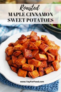 Side dish recipes 31666003618020176 - Rich maple syrup and warm cinnamon compliment the natural goodness of sweet potatoes in this roasted root vegetable recipe. A vegan and gluten-free side dish that's simple and easy to make. Cooked Vegetable Recipes, Spiral Vegetable Recipes, Vegetable Korma Recipe, Vegetable Casserole, Vegetable Dishes, Veggie Recipes, Healthy Recipes, Vegetable Spiralizer, Vegetable Samosa