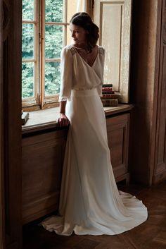 Robes de mariée de Mathilde Marie - Collection 2017 | Photographe : Gaston Lafond | Donne-moi ta main - Blog mariage