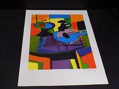 Unique Unframed Limited Edition 279/300 Marcel Mouly (1918-2008) Pencil Signed Lithograph.  Marcel Mouly is considered by many to be the most important artist of the modern era and combines Cubism, Impressionism, and other styles to create truly unique and vibrant pieces.