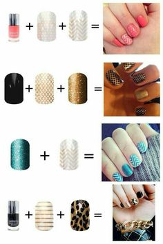 Layering Jamberry wraps over other wraps or over the special Jamberry lacquers is so much fun! Saralmora.jamberrynails.net