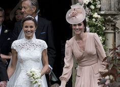 Supportive sister: The Duchess of Cambridge was put on bridesmaid and page boy duties but ...