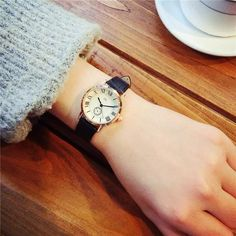 2018 Fashion Luxury Ladies Watches Women Dress Watches Roman Dial Gold Leather Quartz Watch Women Wristwatch relogio feminino From Touchy Style Outfit Accessories. Cheap Watches For Men, Gold Watches Women, Vintage Watches Women, Cute Watches, Rose Gold Watches, Ladies Watches, Black Watches, Women's Dress Watches, Gold Outfit
