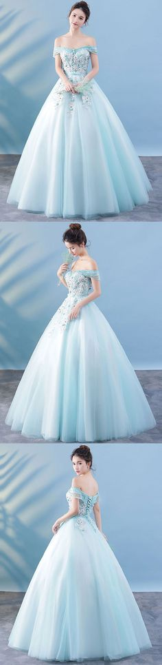 Prom Dresses Beautiful, Light blue lace tulle long prom dress, lace evening dress, Looking for the perfect prom dress to shine on your big night? Prom Dresses 2020 collection offers a variety of stunning, stylish ball. Gold Prom Dresses, Long Prom Gowns, Lace Evening Dresses, Cheap Prom Dresses, Trendy Dresses, Tight Dresses, Evening Gowns, Nice Dresses, Lace Dress