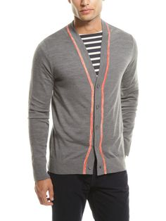PS by Paul Smith | knit Cardie....love the neon detail....