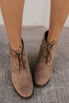 bc3fde90be Lace Up Bootie. Winter Footwear Outfit Ideas