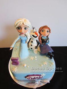Doces Opções: A Elsa, a Anna e o Olaf foram ao 5º aniversário da...