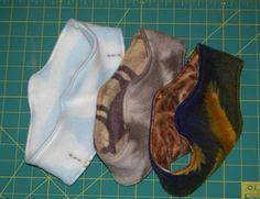easy home made polar fleece ear warmers