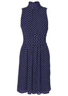 Chiffongklänning blå/vit - BODYFLIRT köp online - bonprix.se