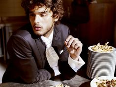 Marlon Texeira by Costas Avgoulis for L'Officiel Hommes Greece