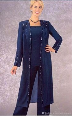 722f04ccbcf65 Elegant Beaded Long Sleeve Mother Of The Bride Pants Suits 2017 Royal Blue  Chiffon Plus Size Formal Evening Dresses Custom Made Mother Of The Bride  Pant ...