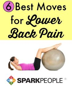 Exercising with Lower Back Pain. Exercising doesn't have to be a pain in the back--try these moves to ease your lower back pain. Yoga Fitness, Fitness Tips, Fitness Motivation, Health Fitness, Wellness Fitness, Pilates, Sport, Lower Back Exercises, Spark People