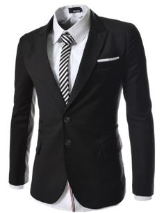 TheLees Mens casual peak lapels 2 button jacket blazer Black XX-Large(US X-Large) TheLees,http://www.amazon.com/dp/B00BV2TFIY/ref=cm_sw_r_pi_dp_2k1vsb0HSGBV3ZC1
