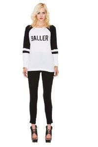 Style Stalker Baller Raglan Tee - SAVE 25% MORE ON THIS ITEM WITH OUR HALF YEARLY SUMMER SALE! PROMO CODE: SUMMER25 www.hintboutique.com