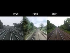 In 1953 the BBC made a point-of-view film from a London to Brighton train. 30 years later they did the same. And 30 years after that they did it once more. London to Brighton Train Journey: 1953 - 2013.