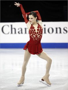 Sasha Cohen -Red Figure Skating / Ice Skating dress inspiration for Sk8 Gr8 Designs.