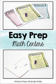 Easy to Prep Math Centers: Roll and Answer Games {Freebies} - Read this post to grab some free low prep math centers that are common core aligned!