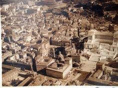 ROMA Sparita - Vittoriano quando non esisteva ancora via Fori Imperiali