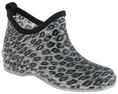 Capelli New York Shiny Sketchy Leopard Printed Ladies SlipOn Jelly Bootie Body Grey Combo 6 *** You can find more details by visiting the image link.(This is an Amazon affiliate link and I receive a commission for the sales)