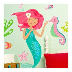 Girls Bathroom Found It At Wayfair   Mermaid Wall Decal Also At Target.com