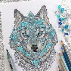 Native American & Celtic custom regard Wolf as the way of finding the deepest levels of self of inner knowing & intuition. This is symbolized by the image of the wolf howling at the moon. Native Americans have long regarded wolves as teachers or pathfinders. In astrology Wolf is represented by the Dog Sirius thought by many aboriginal tribes to be the home of the Ancients. -Ina Woolcott ||artwork & photo reposted from @vvvenla_art by crystal.tribe