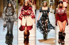 D&G Winter 2011 Fur Yeti Boots Collection - Source fashion-savoir-faire.blogspot.com