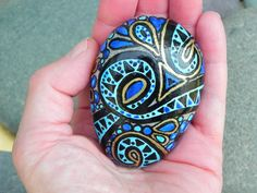 Egyptian Sea Goddess /Painted Sea Stone /Sandi by LoveFromCapeCod, $46.00