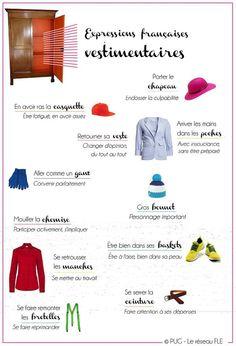 expressions avec les vêtements