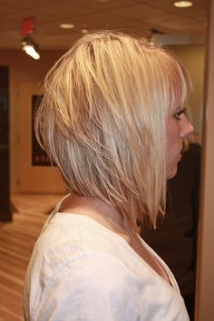 Short asymmetrical. I'm going to try something like this next.
