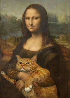 Mona Lisa y gato gordo Fat Cats, Cats And Kittens, Fat Kitty, Cats Bus, Ragdoll Kittens, White Kittens, Kitty Kitty, Sleepy Kitty, Bengal Cats