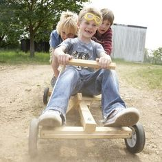 Fancy - Kids make your own go cart by Cox