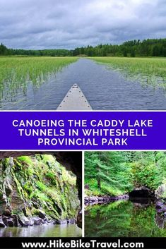 Canoeing the Caddy Lake Tunnels, located in Whiteshell Provincial Park, in Manitoba is an awesome day trip but there an aoptional 105 mile loop as well. Canoe Trip, Canoe And Kayak, Places To Travel, Places To See, Whitewater Kayaking, Canoeing, Visit Canada, Canada Eh, Canadian Travel