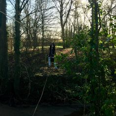Making our way across the river on a working #zipline to create a #ropebridge #amazing #wowfactor Treehouse Life Ltd. create awesome Tree Houses Rope Bridges Tree-top Walkways and Nest Swings designed and built by Paul Cameron theoughout the UK and worldwide.