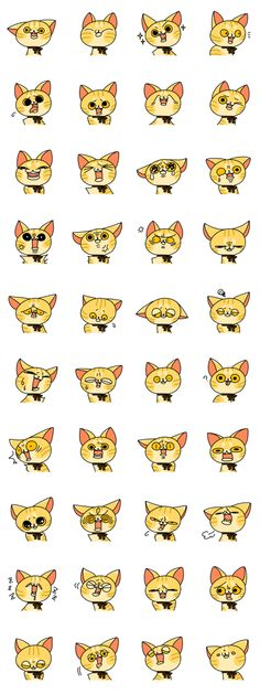 "#LINE #Sticker - Developer: teammendako || Sticker packet name: The name of the cat ""MIKAN"""