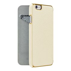 Adopted LEATHER FOLIO CASE iPHONE 6 WHITE / GOLD