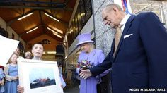 The Queen and the Duke of Edinburgh have visited west Cornwall