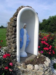 An old bathtub put to good use- honoring Blessed Mother Mary
