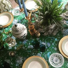 Table mid lay. Yes and more blue and green.! #christmas #greenandgold #blueandgreen #familydinner
