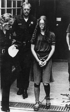 Brenda Ann Spencer leaves the courthouse in Santa Ana, California, escorted by sheriff's deputies Brenda Ann Spencer, The Boomtown Rats, Famous Serial Killers, Grover Cleveland, Bob Geldof, Jeffrey Dahmer, School Shootings, Women In History, True Crime
