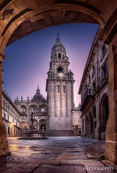 Cathedral of Santiago de Compostela by dleiva