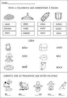 JARDIM COLORIDO DA TIA SUH: Atividades para a Alfabetização