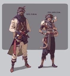 ArtStation - Fantasy characters WIP, Adam Lee