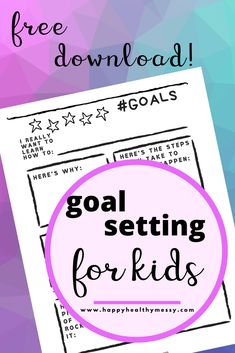 It's a New Year! Grab this free printable and make a resolution of your own to help your kids to learn the power of setting and achieving goals. setting for kids printables new years Goals Worksheet, Goal Setting Worksheet, Goals Printable, Free Printables, New Year Goals, Goal Planning, Goals Planner, Worksheets For Kids, Writing Prompts