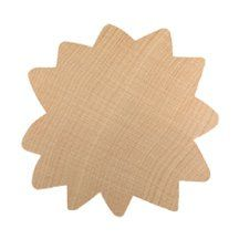 36 Count 1-inch Natural Wood Sunflowers Natural Wood Products,.