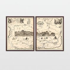 This is a beautiful restoration of an antique map of the White Mountains…