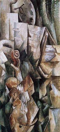 Georges Braque, Violín y paleta, 1909