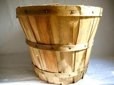 Antique Wooden Basket Antique Bushel Basket Vintage