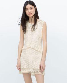 Image 2 of CROCHET COMBINED DRESS from Zara