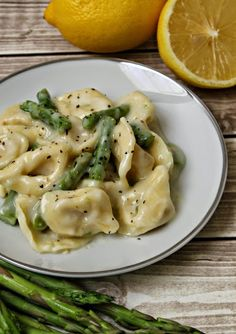 Tortellini with Asparagus in a Light Creamy Lemon Sauce Recipe